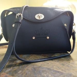 Black Gucci Made in Italy Cross Body Purse